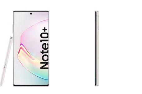 三星Galaxy Note 10+银色版曝光,无边框全面屏惊艳-1