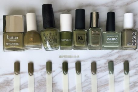 什么指甲油颜色好看?脏绿色指甲油合集-1