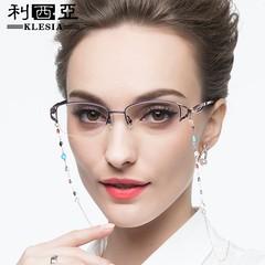 项链式老光老花眼镜女防蓝光远近两用自动变焦调节度数显年轻高清