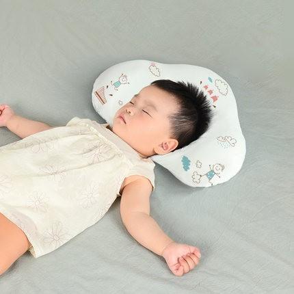 棉花会婴儿枕头乳胶定型枕新生儿0-3岁头型矫正护头防偏头扁头夏